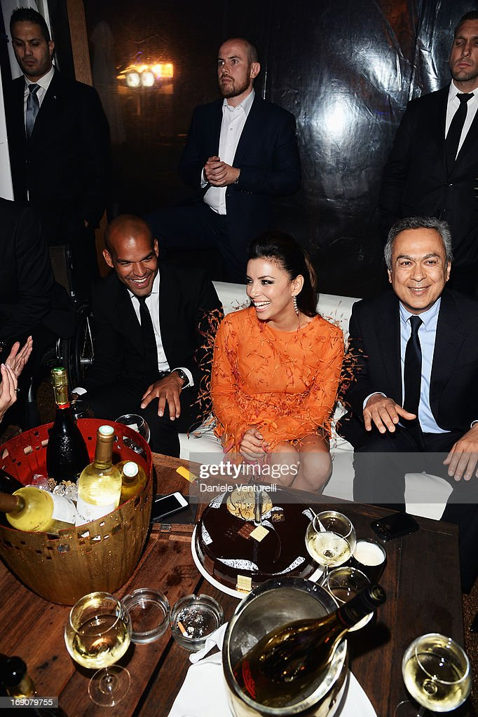 <a gi-track='captionPersonalityLinkClicked' href=/galleries/search?phrase=Amaury+Nolasco&family=editorial&specificpeople=4493818 ng-click='$event.stopPropagation()'>Amaury Nolasco</a>, <a gi-track='captionPersonalityLinkClicked' href=/galleries/search?phrase=Eva+Longoria&family=editorial&specificpeople=202082 ng-click='$event.stopPropagation()'>Eva Longoria</a> and a guest attend the <a gi-track='captionPersonalityLinkClicked' href=/galleries/search?phrase=Eva+Longoria&family=editorial&specificpeople=202082 ng-click='$event.stopPropagation()'>Eva Longoria</a> Global Gift Gala after party hosted by Nikki Beach Cannes during The 66th Annual Cannes Film Festival on May 19, 2013 in Cannes, France.