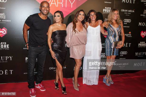 Amaury Nolasco Eva Longoria Bastón Maria Bravo Pilar Maria de la Granja and Ana Obregón attend The Global Gift Party on July 15 2017 in Marbella Spain