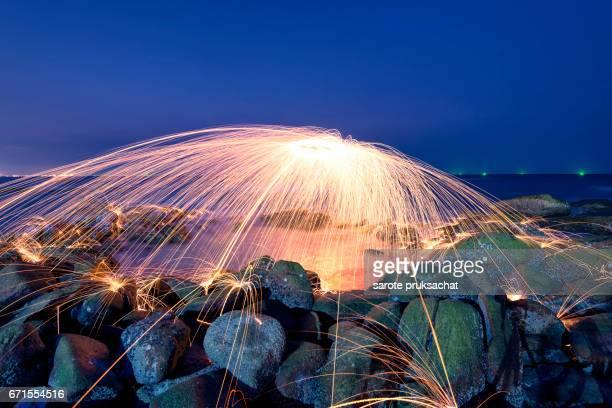 Amazing Fire steel wool photography.