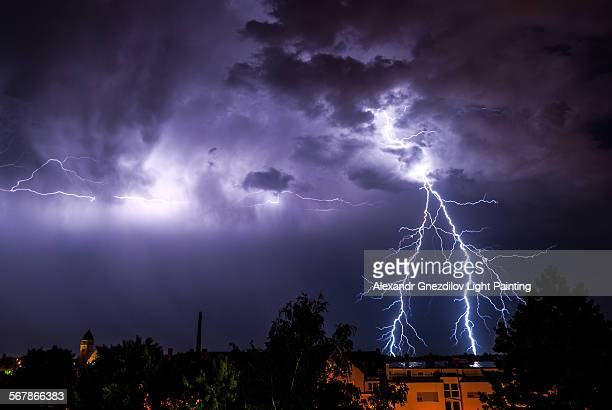 Amazing forked lightning