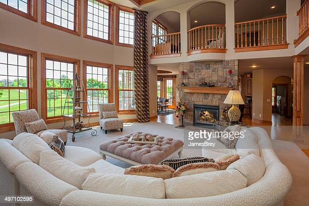 Amazing Great Room With Second story Balcony