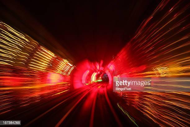 Erstaunlichen Lichter in den Tunnel