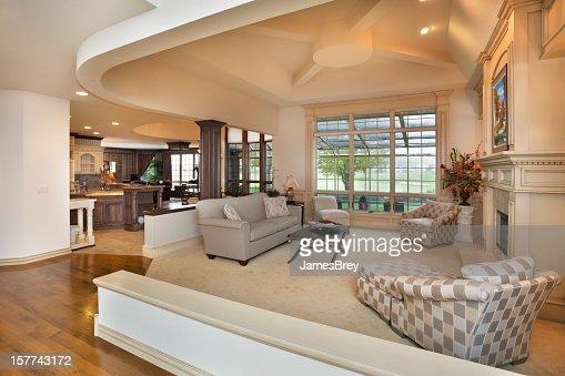amazing living room open concept interior design stock photo amazing living room