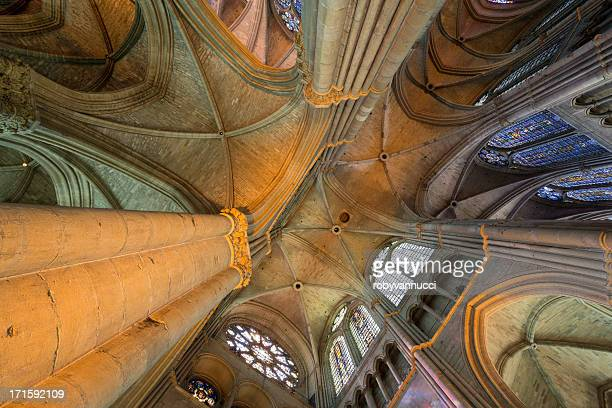 Incroyable vue de Reims la cathédrale Notre-Dame vault, France