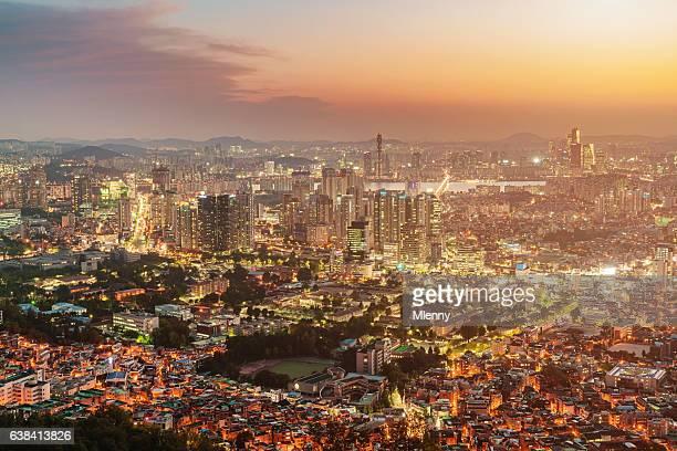 Amazing Seoul Cityscape Sunset South Korea
