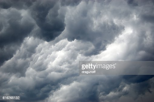 Amazing storm clouds : Stock Photo