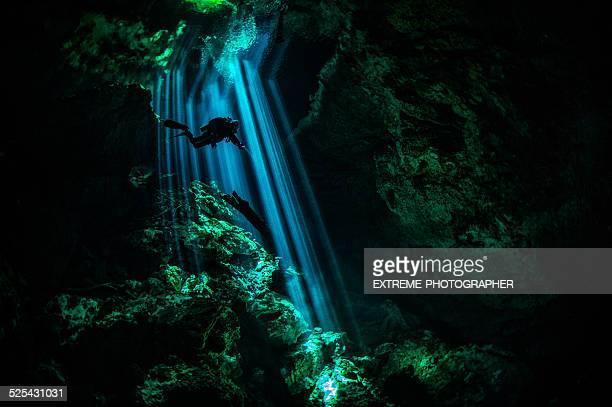 Étonnant monde sous-marin dans les caves