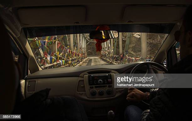 Amazing view inside driving car in Leh Ladakh
