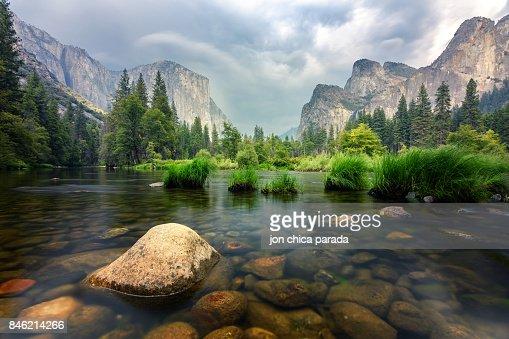 amazing views of el capitan mountain in yosemite valley, Usa : Foto stock