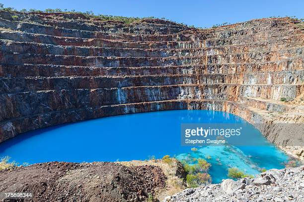 CONTENT] Amazing vivid blue water in an abandoned open cut uranium mine pit Photographed at Mary Kathleen Western Queensland Australia The mine was...