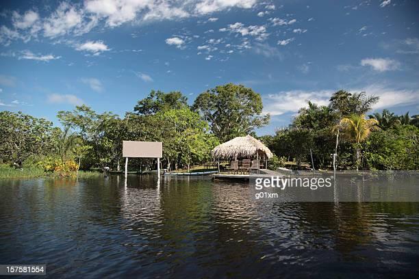 Amazon Rainforest and Amazon Jungle river lodge, Brazil