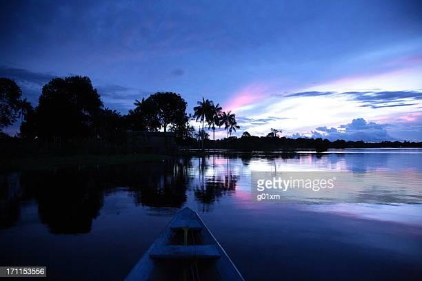 Rio Amazonas pôr do sol