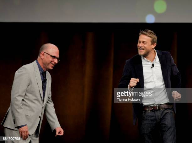 Amazon Studios Head of Movie Marketing Distribution Bob Berney and actor Charlie Hunnam speak during the final day luncheon and special program...
