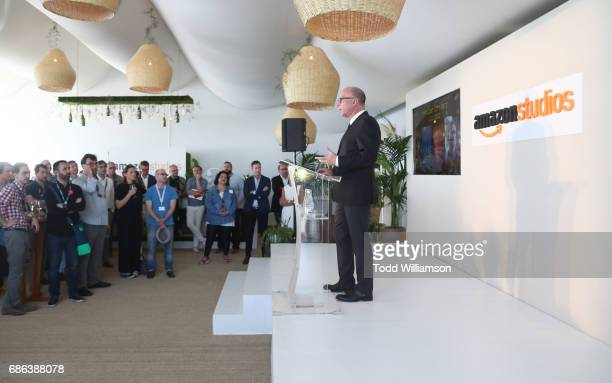 Amazon Studios' Head of Movie Marketing Distribution Bob Berney speaks at the Amazon Studios International Presentation at The 2017 Cannes Film...