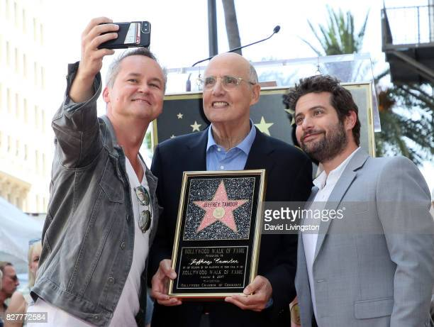 Amazon Studios head Roy Price actor Jeffrey Tambor and Amazon Studios Head of Comedy and Drama Joe Lewis pose for a selfie at Jeffrey Tambor being...