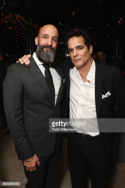 Amazon Studios' Worldwide Head of Motion Pictures Jason Ropell and actor Yul Vazquez attend the Last Flag Flying NYFF World Premiere on September 28...