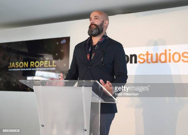 Amazon Studios' Worldwide Head of Motion Pictures Jason Ropell speaks at the Amazon Studios International Presentation at The 2017 Cannes Film...