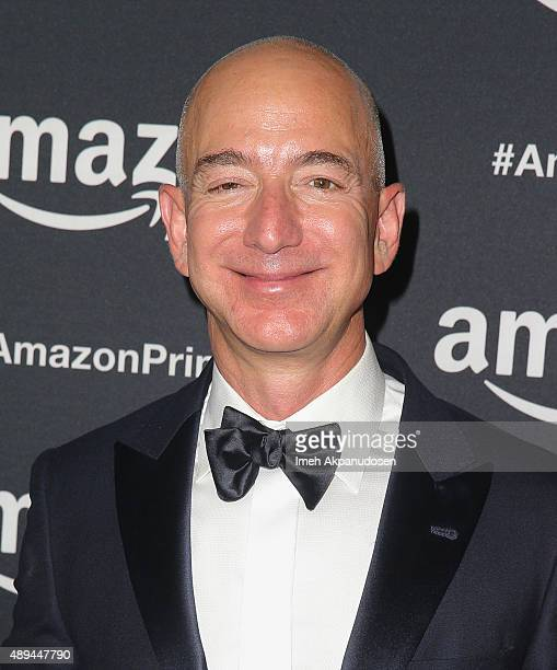 Amazoncom CEO Jeff Bezos attends Amazon Video's 67th Primetime Emmy Celebration at The Standard Hotel on September 20 2015 in Los Angeles California