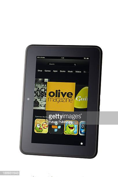 Amazon's Kindle Fire HD ebook reader and mini tablet computer October 29 2012