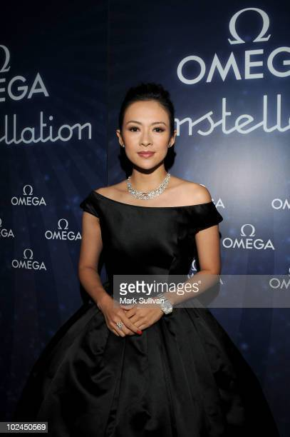 Ambassador actress Zhang Ziyi attends OMEGA Constellation VIP Dinner at The RitzCarlton on June 26 2010 in Los Angeles California
