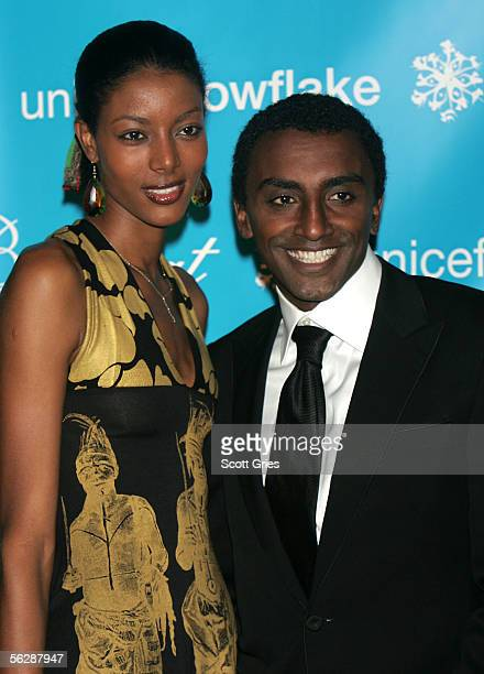 Ambassador and Chef and coowner of Aquavit Marcus Samuelsson and model Maya Haile attend the 2nd Annual Snowflake Ball at the WaldorfAstoria Hotel on...