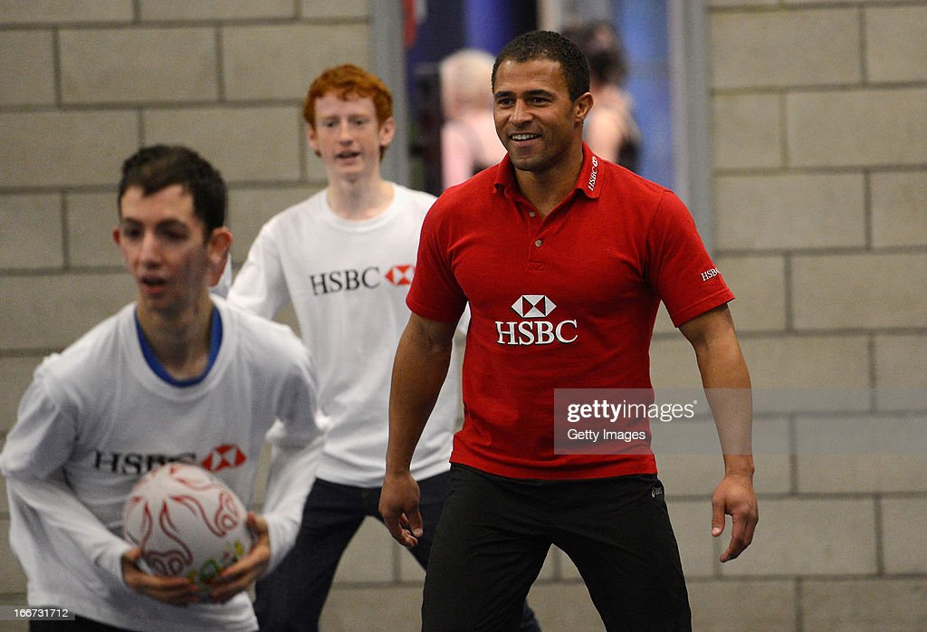 Ambassador and former dual-code rugby legend <a gi-track='captionPersonalityLinkClicked' href=/galleries/search?phrase=Jason+Robinson&family=editorial&specificpeople=178298 ng-click='$event.stopPropagation()'>Jason Robinson</a> coaches young people from the Prince's Trust Fairbridge programme during a Rugby themed coaching session at Newcastle University on April 16, 2013 in Newcastle upon Tyne, England.