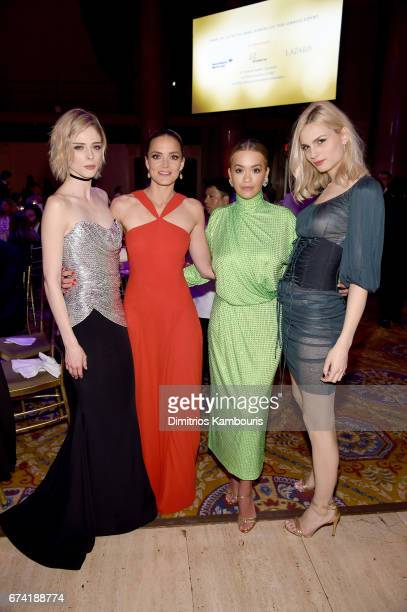 Ambassador Coco Rocha DKMS founder Katharina Harf recording artist Rita Ora and model Andreja Pejic attend 11th Annual DKMS 'BIG LOVE' Gala on April...