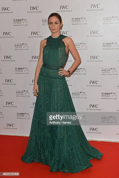 Ambassador Emily Blunt during the IWC Filmmaker Award Night 2014 at The One Only Royal Mirage on December 11 2014 in Dubai United Arab Emirates