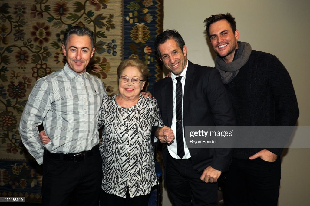 Ambassador for amfAR and actor Alan Cumming Founding Chairman of amfAR Dr Mathilde Krim and Chairman of the board of amfAR and designer Kenneth Cole...