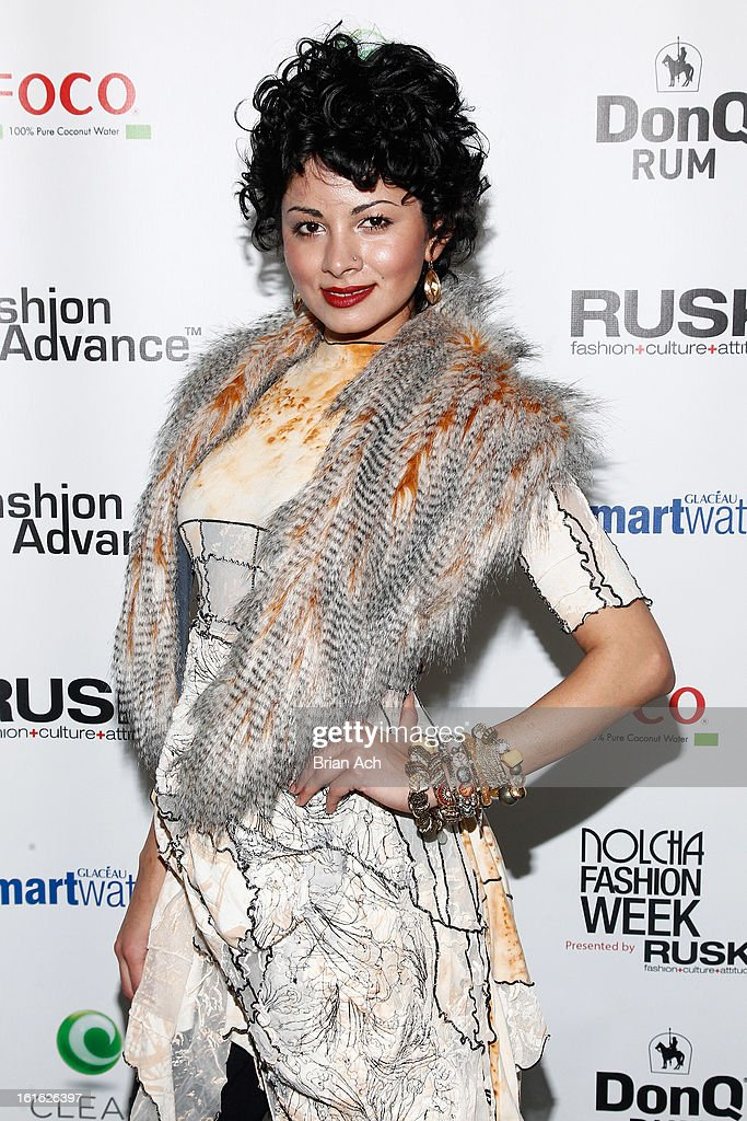 Ambassador for Fashion Hope Zara Durrani attends Nolcha Fashion Week New York 2013 presented by RUSK at Pier 59 Studios on February 13, 2013 in New York City.