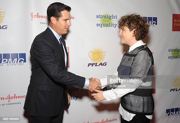 Ambassador for Inclusion Billy Bean and producer Jill Soloway attend the 7th Annual PFLAG National Straight For Equality Awards Gala at The New York...