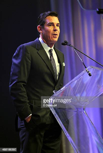 Ambassador for Inclusion Billy Bean speaks onstage at the 7th Annual PFLAG National Straight For Equality Awards Gala at The New York Marriott...