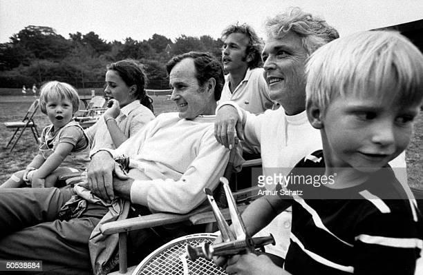 Ambassador George Bush and family