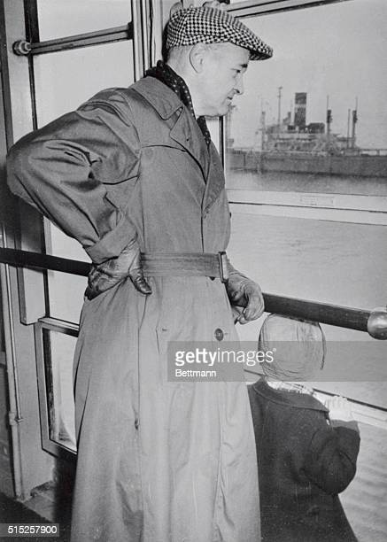 Ambassador George F Kennan whom the Soviets recently declared Persona Non Grata is pictured aboard the luxury liner SS America before the vessel left...