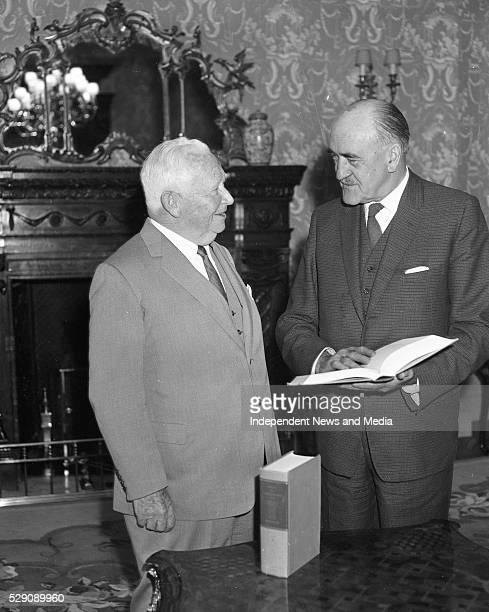 US ambassador M A McCloskey with Frank Aiken misinter for External Affairs