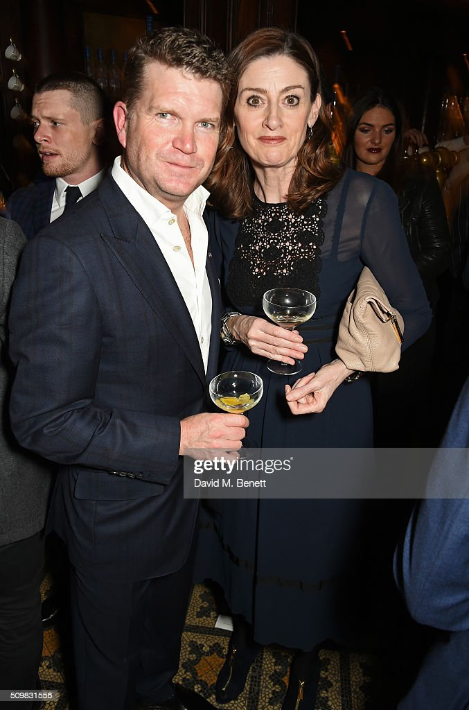 US Ambassador <a gi-track='captionPersonalityLinkClicked' href=/galleries/search?phrase=Matthew+Barzun&family=editorial&specificpeople=7279436 ng-click='$event.stopPropagation()'>Matthew Barzun</a> (L) and BAFTA CEO Amanda Berry attend Harvey Weinstein's pre-BAFTA dinner in partnership with Burberry and GREY GOOSE at Little House Mayfair on February 12, 2016 in London, England.