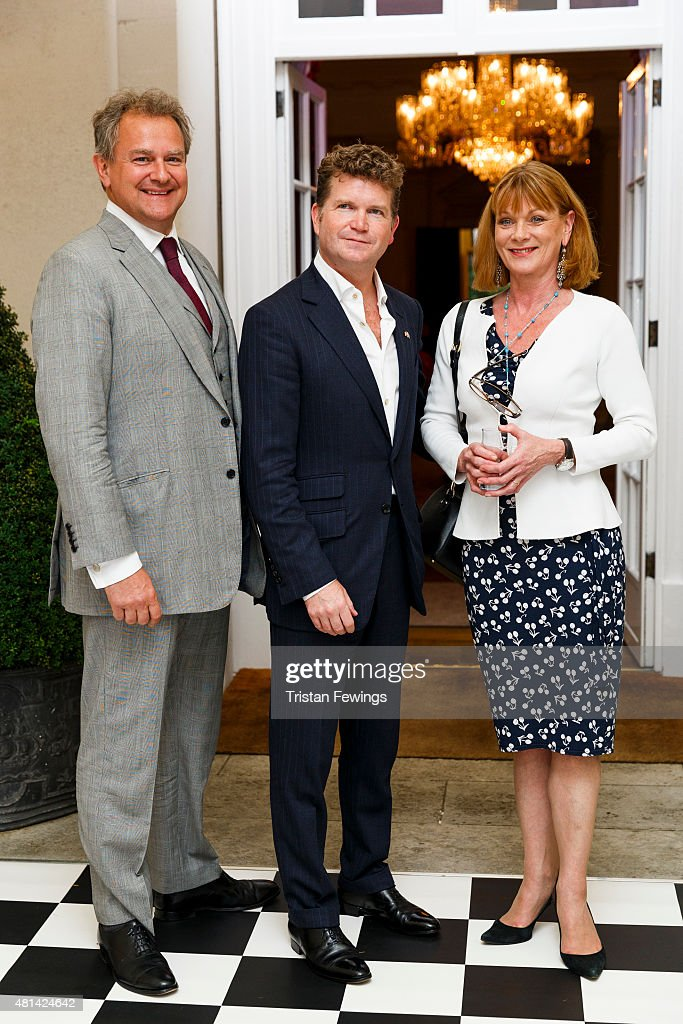 Ambassador Matthew Barzun Hugh Bonneville and Samantha Bond attend a reception hosted by the US Ambassador at his residence at Winfield House to...