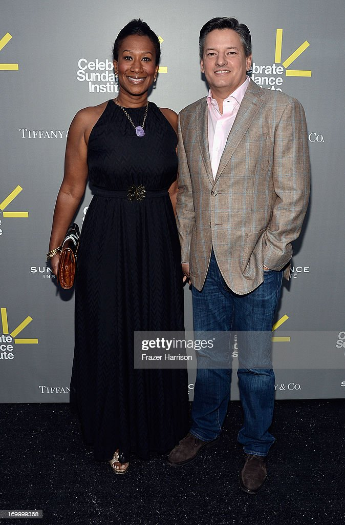 Ambassador Nicole Avant (Ret.) (L) and Netflix Chief Content Officer <a gi-track='captionPersonalityLinkClicked' href=/galleries/search?phrase=Ted+Sarandos&family=editorial&specificpeople=2137714 ng-click='$event.stopPropagation()'>Ted Sarandos</a> attend the 2013 'Celebrate Sundance Institute' Los Angeles Benefit hosted by Tiffany & Co. at The Lot on June 5, 2013 in West Hollywood, California.