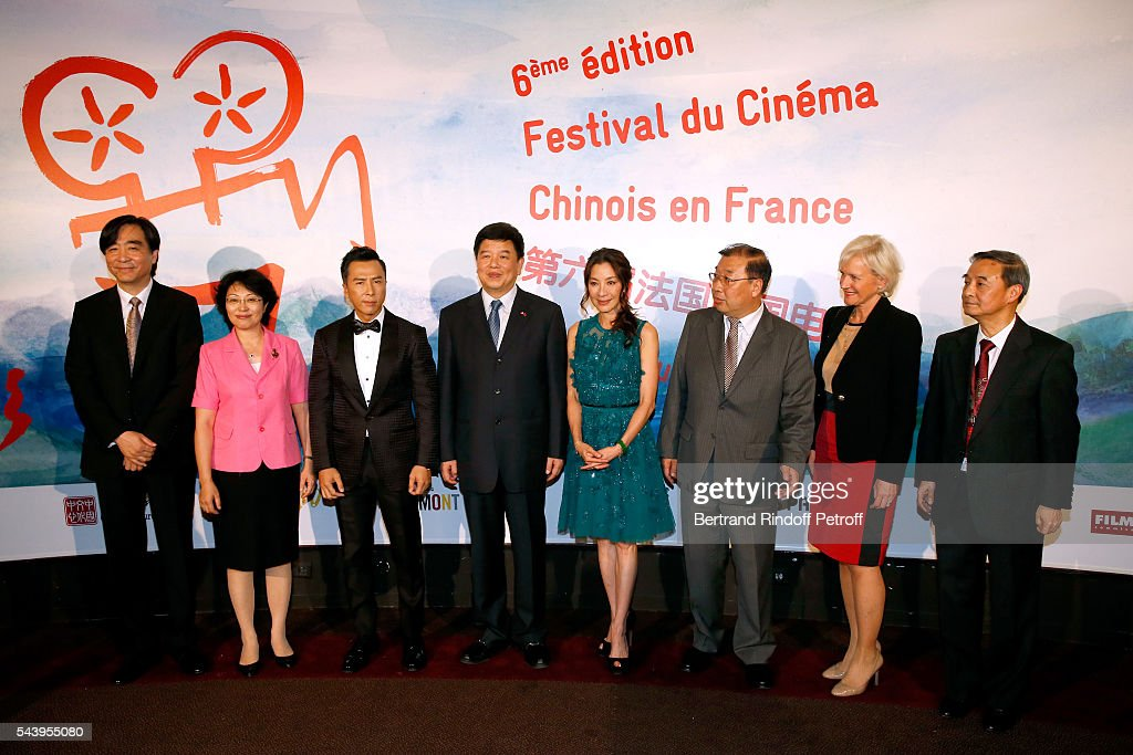 Ambassador of Cina in paris, Zhai Jun, a guest, Actor <a gi-track='captionPersonalityLinkClicked' href=/galleries/search?phrase=Donnie+Yen&family=editorial&specificpeople=235559 ng-click='$event.stopPropagation()'>Donnie Yen</a>, Vice-Minister of SAPPFRT, Tong Gang, Actress <a gi-track='captionPersonalityLinkClicked' href=/galleries/search?phrase=Michelle+Yeoh&family=editorial&specificpeople=223894 ng-click='$event.stopPropagation()'>Michelle Yeoh</a>, Deputy Director General of the Office of Film in SAPPRFT, Luan Guozhi, General Director of Hotel 'Le Meurice', Franka Holtmann and Co-President of the Festival and Director of 'China Cultural Centre in Paris', Su Xu attend the 6th Chinese Film Festival