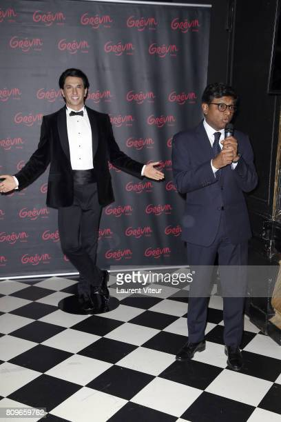 Ambassador of India in France Mohan Kumar attends Ranveer Singh Wax Work unveiling at Musee Grevin on July 6 2017 in Paris France
