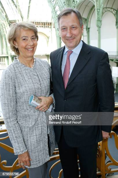 Ambassador of Luxembourg to France Paul Duhr and his wife Valerie attend the 'Revelations' Fair at Balcon d'Honneur du Grand Palais on May 5 2017 in...