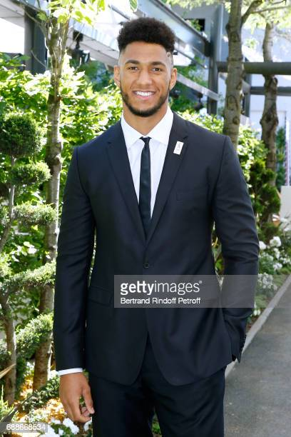 Ambassador of Olympic Games of Paris 2024 and Olympic Champion of Boxe Tony Yoka attends the 2017 Roland Garros French Tennis Open Women's and Men's...