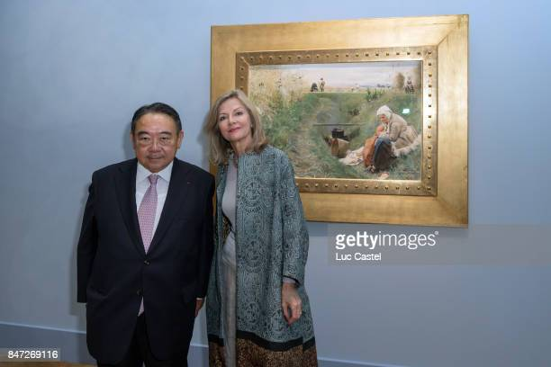 Ambassador of Sweden to France Veronika WandDanielsson and guest attend the Swedish Painter Anders Zorn Exhibition at Le Petit Palais on September 13...