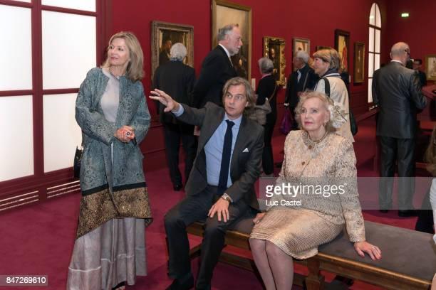 Ambassador of Sweden to France Veronika WandDanielsson guest and Countess Marianne Bernadotte de Wisborg attend the Swedish Painter Anders Zorn...