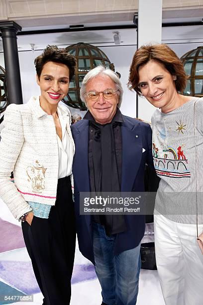 Ambassador of the house Schiaparelli Farida Khelfa Seydoux Diego della Valle and Ines de la Fressange attend the Schiaparelli Haute Couture...