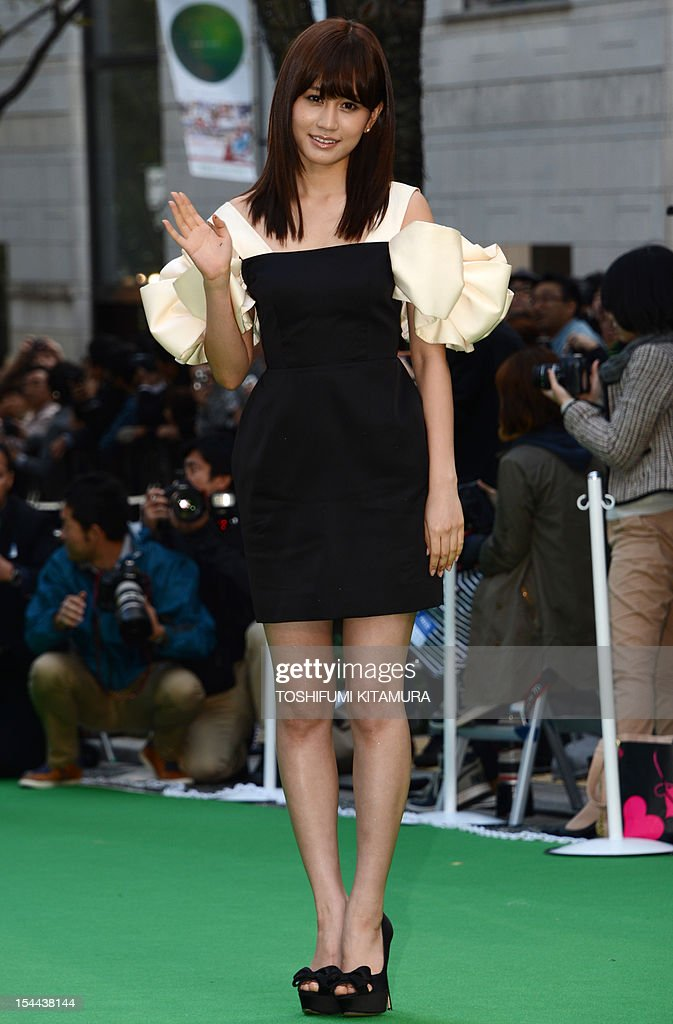 Ambassador of the Tokyo International Film Festival (TIFF) and former member of Japanese pop group AKB48 Atsuko Maeda poses for photographers during the TIFF opening ceremony in Tokyo on October 20, 2012. with China's main entry to the film festival being pulled, a total of 103 movies will be screened during the nine-day event.