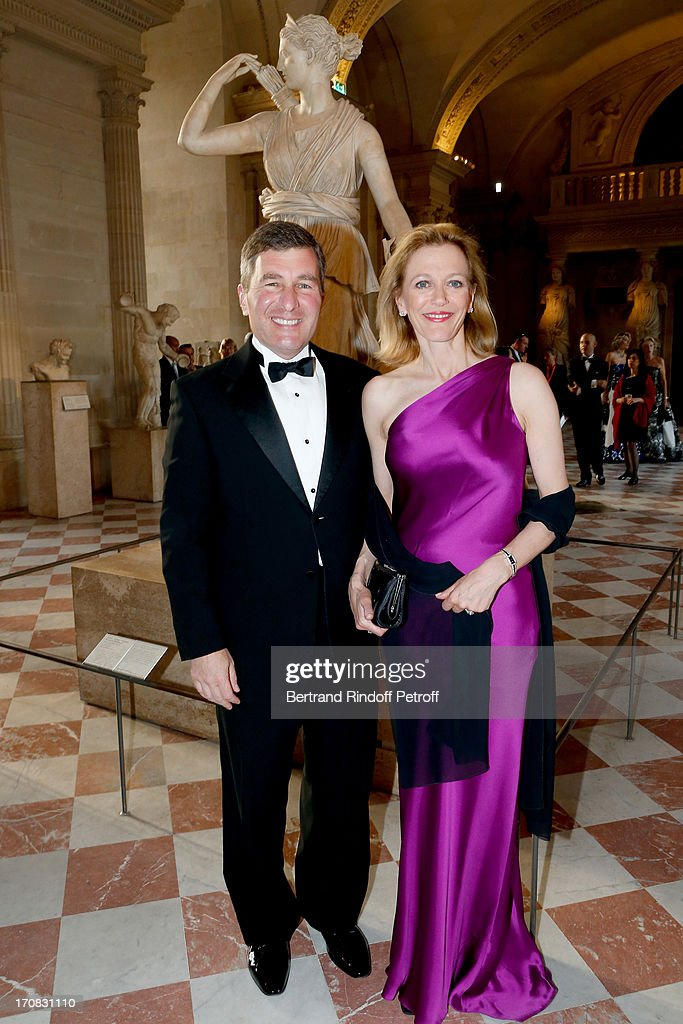 Ambassador of USA Charles Rivkin and his wife Suzan Tolson attend 'Liaisons Au Louvre III' Charity Gala Dinner Hosted by American International Friends of Le Louvre at Cour Carree du Louvre on June 18, 2013 in Paris, France.