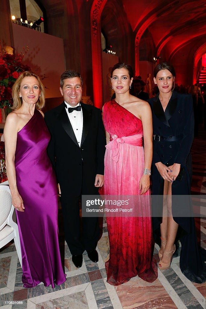 Ambassador of USA <a gi-track='captionPersonalityLinkClicked' href=/galleries/search?phrase=Charles+Rivkin&family=editorial&specificpeople=4891546 ng-click='$event.stopPropagation()'>Charles Rivkin</a> and his wife Suzan Tolson, Charlotte Casiragh and Juliette Maillot attend 'Liaisons Au Louvre III' Charity Gala Dinner Hosted by American International Friends of Le Louvre at Cour Carree du Louvre on June 18, 2013 in Paris, France.