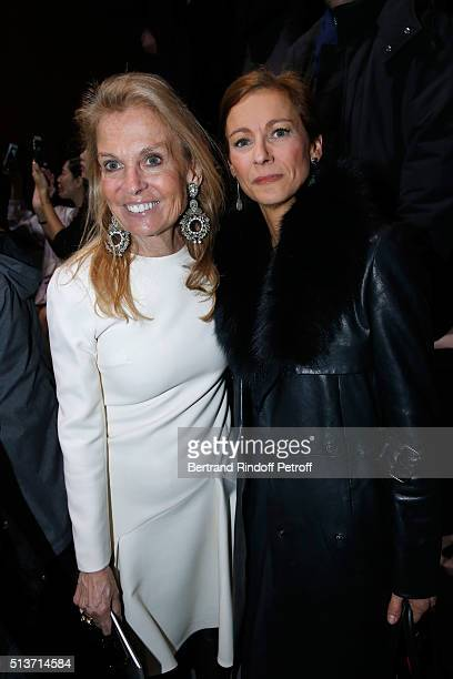 Ambassador of USA in France Jane D Hartley and Violonist Anne Gravoin attend the Christian Dior show as part of the Paris Fashion Week Womenswear...