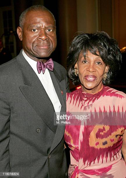Ambassador Sidney Williams and Congresswoman Maxine Waters